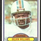 Miami Dolphins Delvin Williams 1980 Topps Football Card 115 ex/em