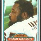 Chicago Bears Noah Jackson 1980 Topps Football Card 186 nr mt
