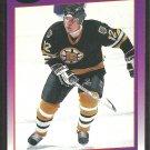 Boston Bruins Randy Burridge 1991 Score Hockey Card 102