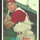 Cincinnati Reds Wally Post 1957 Topps Baseball Card 157 ex/em