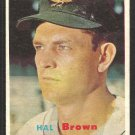 Baltimore Orioles Hal Brown 1957 Topps Baseball Card 194 ex mt