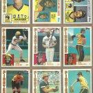 1984 Topps Pittsburgh Pirates Team Lot Dave Parker Mike Easler Kent Tekulve Rick Rhoden Rich Hebner