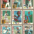 1984 Topps St Louis Cardinals Team Lot Willie McGee Ozzie Smith Bruce Sutter Joaquin Andujar T Herr