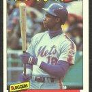 New York Mets Darryl Strawberry 1986 Fleer Baseballs Best Sluggers Baseball Card 38