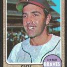 Atlanta Braves Clete Boyer 1968 Topps Baseball Card 550 vg/ex