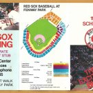 1983 Boston Red Sox Pocket Schedule The Excitement Builds Reid Nichols