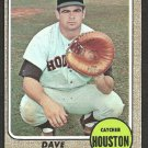 Houston Astros Dave Adlesh 1968 Topps Baseball Card 576 ex/em
