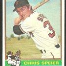 San Francisco Giants Chris Speier 1976 Topps Baseball Card 630 ex