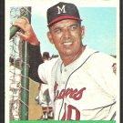Milwaukee Braves Bobby Bragan 1964 Topps Baseball Card # 506 vg/ex