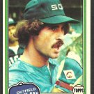 Chicago White Sox Bob Molinaro 1981 Topps Baseball Card 466 nr mt