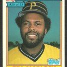 Pittsburgh Pirates Bill Madlock 1984 Ralston Purina Baseball Card 26