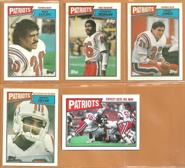 1987 Topps New England Patriots Team Lot Andre Tippett Raymond Clayborn Mosi Tatupu Irving Fryar