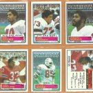 1983 Topps New England Patriots Team Lot 12 John Hannah Tony Collins Stanley Morgan Mike Haynes