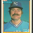 Kansas City Royals Dan Quisenberry 1984 Ralston Purina Baseball Card 25