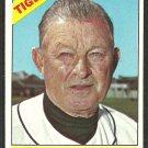 Detroit Tigers Chuck Dressen 1966 Topps Baseball Card 187 vg