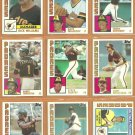 1984 Topps San Diego Padres Team Lot 24 Steve Garvey Garry Templeton Dick Williams Dave Dravecky