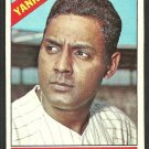 New York Yankees Ruben Amaro 1966 Topps Baseball Card 186 ex/em