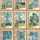 1984 Topps Seattle Mariners Team Lot 25 Richie Zisk Spike Owen Mike Moore Al Cowens