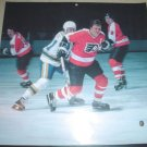 Philadelphia Flyers Bill Barber Rick MacLeish Large Color Pinup Photo
