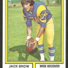 Los Angeles Rams Jack Snow 1974 Topps Parker Brothers Pro Draft Football Card 83 ex/em