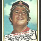 California Angels Bill Melton 1976 Topps Traded Series Baseball Card 309t ex mt