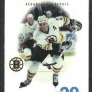 1995 Boston Bruins Pocket Schedule Cam Neely Derek Sanderson Fred Cusick UPN 38 Budweiser