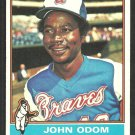 Atlanta Braves John Odom 1976 Topps Baseball Card 651 vg