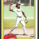 St Louis Cardinals Garry Templeton 1981 Topps Baseball Card 485 nr mt