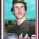 New York Yankees Mike Griffin RC Rookie Card 1981 Topps Baseball Card 483 nr mt