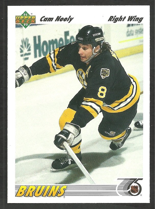 Boston Bruins Cam Neely 1991 Upper Deck Hockey Card 234