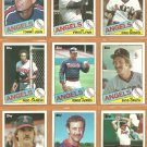 1985 Topps California Angels Team Lot 27 Rod Carew Reggie Jackson Tommy John Fred Lynn Bob Grich