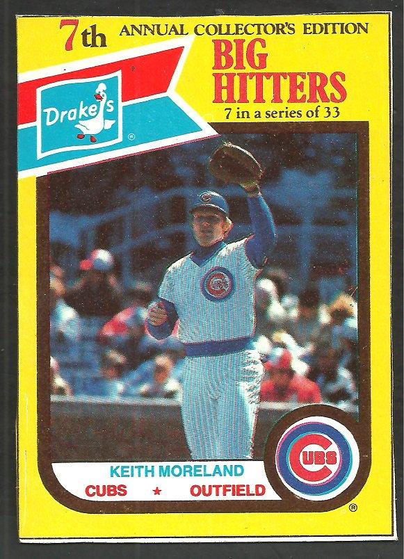 Chicago Cubs Keith Moreland 1987 Drakes Big Hitters Baseball Card 7
