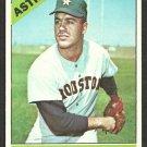 Houston Astros Dave Giusti 1966 Topps Baseball Card 258 ex/em