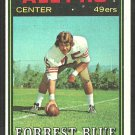 San Francisco 49ers Forrest Blue 1974 Topps Football Card 124 ex