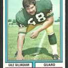 Green Bay Packers Gail Gillingham 1974 Topps Football Card 115 ex/em