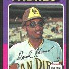 San Diego Padres Derrel Thomas 1975 Topps Baseball Card 378 ex