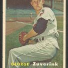Baltimore Orioles George Zuverink 1957 Topps Baseball Card 11 ex/em