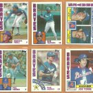 1984 Topps Atlanta Braves Team Lot Dale Murphy Phil Niekro Joe Torre Bob Watson Glenn Hubbard