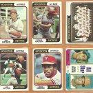 1974 Topps Houston Astros Team Lot Jim Wynn Cesar Cedeno Bob Watson Lee May Ken Forsch Claude Osteen