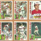 1984 Topps Chicago White Sox Team Lot Harold Baines Tony LaRussa Tom Paciorek Greg Walker