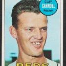 Cincinnati Reds Clay Carroll 1969 Topps Baseball Card 26 nr mt