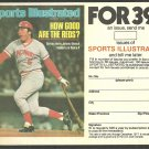 Cincinnati Reds Johnny Bench 1977 Sports Illustrated Subscription Coupon