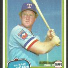 Texas Rangers Pat Putnam 1981 Topps Baseball Card 498 ex mt