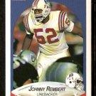 New England Patriots Johnny Rembert 1990 Fleer Football Card 325