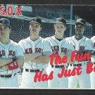 1988 Boston Red Sox Pocket Schedule Miller Beer The Fun Has Just Begun Ellis Burks Mike Greenwell