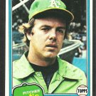 Oakland Athletics Steve McCatty 1981 Topps Baseball Card 503 nr mt
