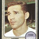 California Angels Bobby Locke 1968 Topps Baseball Card 24 ex