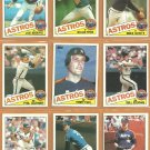 1985 Topps Houston Astros Team Lot 27 diff Nolan Ryan Mike Scott Joe Niekro Terry Puhl Phil Garner