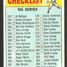 1966 Topps Baseball Card 364 5th Series Checklist fair
