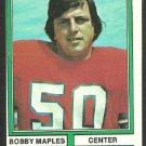 Denver Broncos Bobby Maples 1974 Topps Football Card 243 ex/em